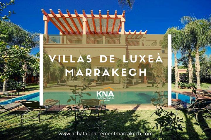 villa luxe Marrakech